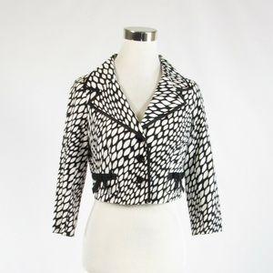 Teri Jon black cotton blend blazer jacket 2